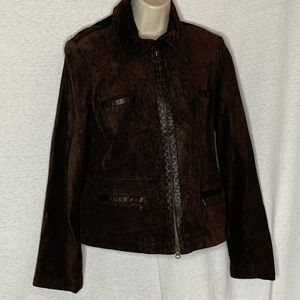 Tribal Light Coat Jacket Lined Brown Leather
